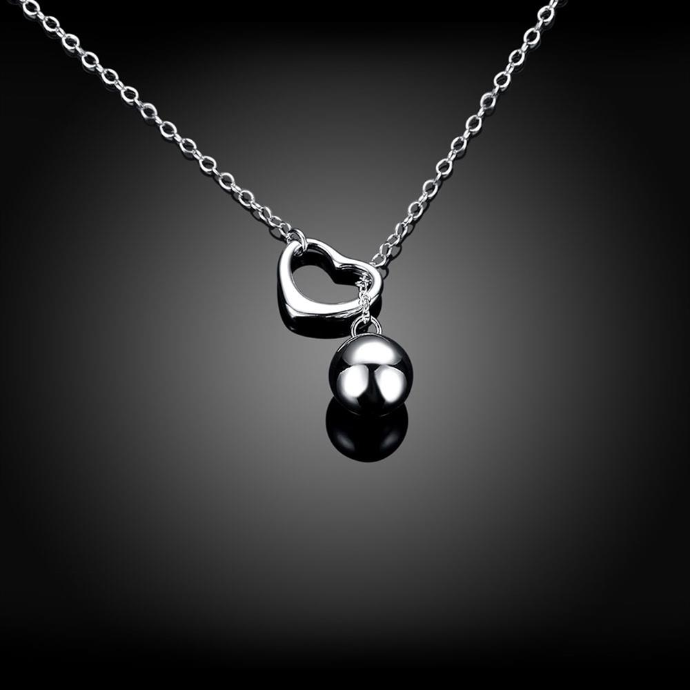 Wholesale Classic Silver Ball Necklace TGSPN736 2