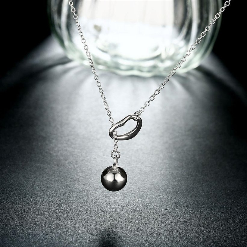 Wholesale Classic Silver Ball Necklace TGSPN736 4