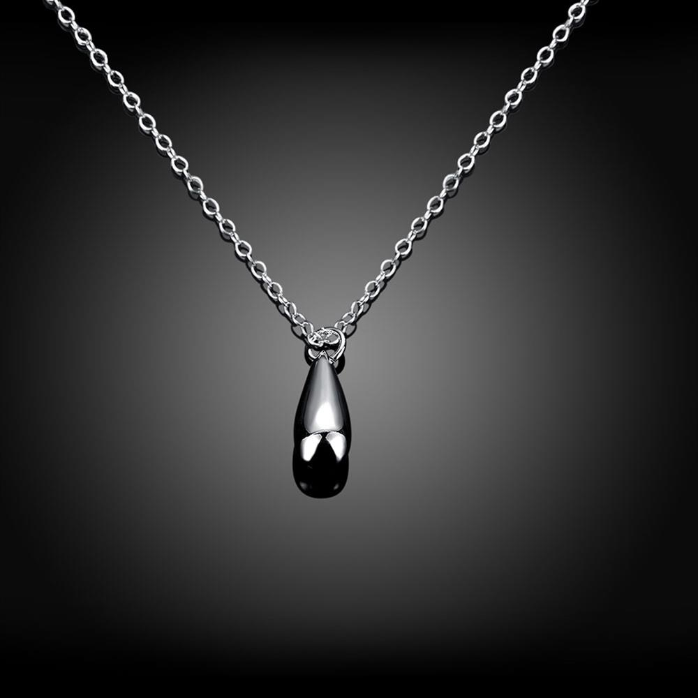 Wholesale Classic Silver Water Drop Necklace TGSPN742 2
