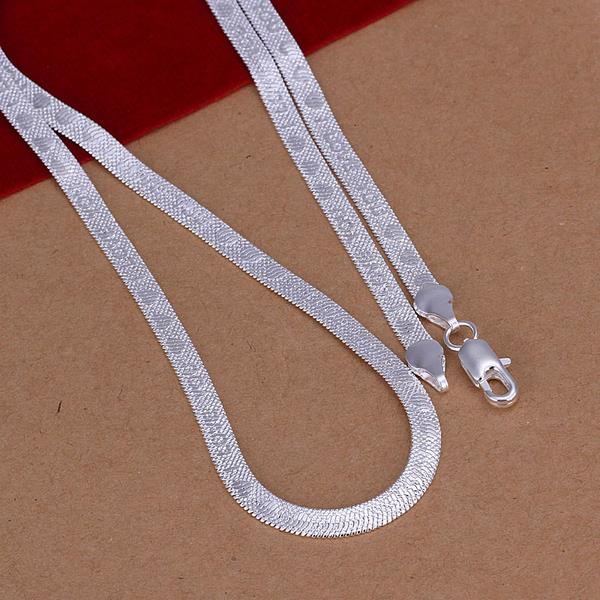 Wholesale Classic Silver Heart Necklace TGSPN778 0