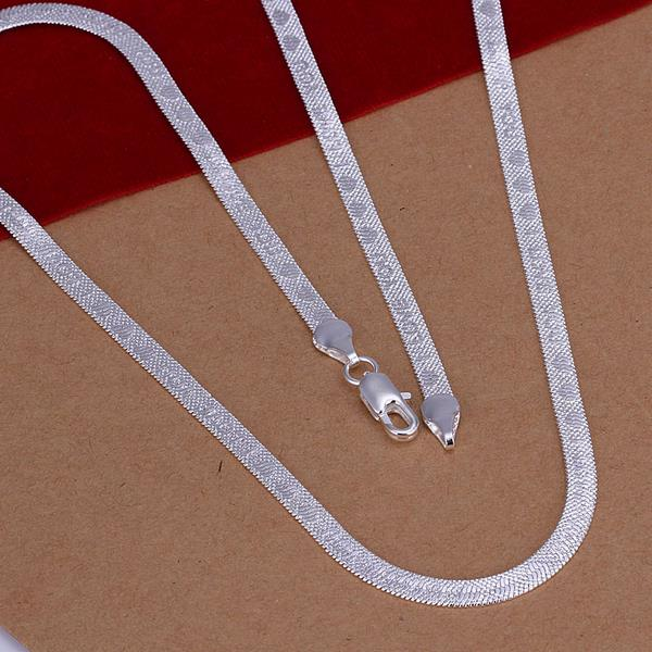 Wholesale Classic Silver Heart Necklace TGSPN778 1