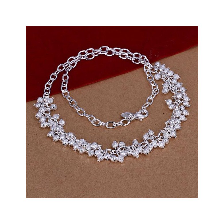 Wholesale Romantic Silver Ball Necklace TGSPN040