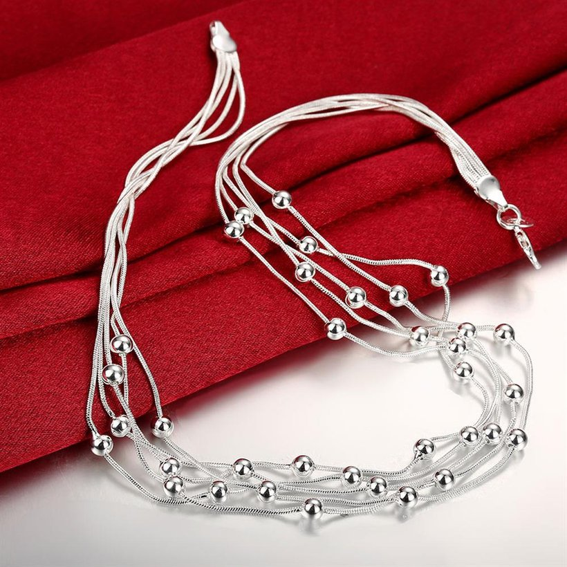 Wholesale Romantic Silver Ball Necklace TGSPN046 0
