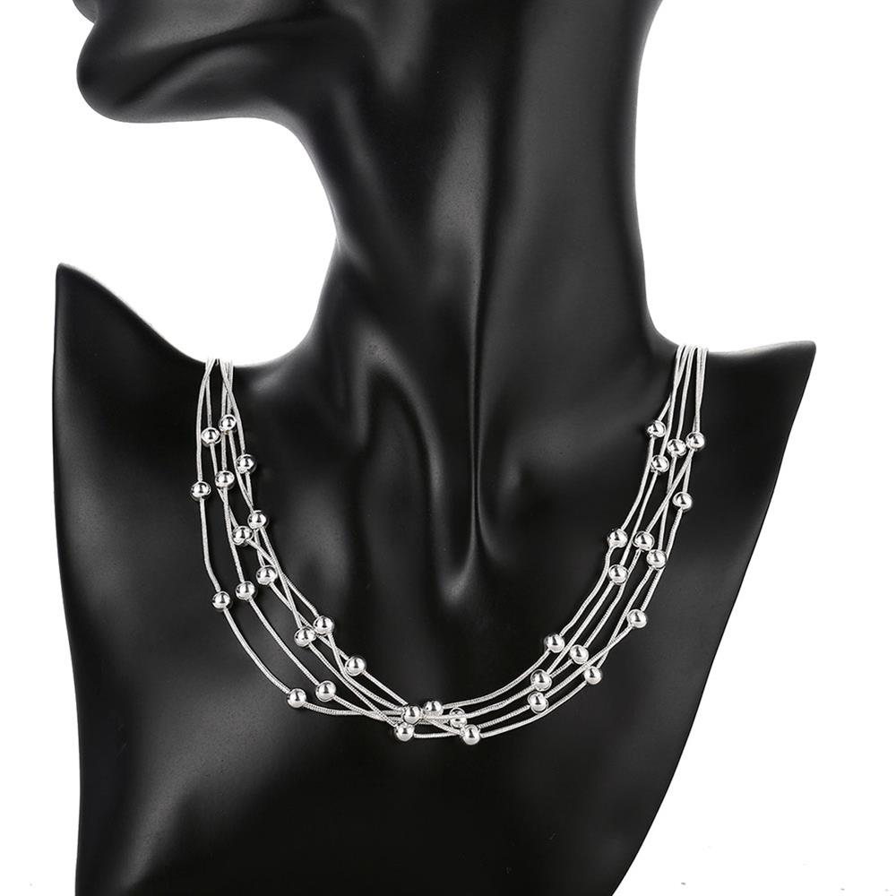Wholesale Romantic Silver Ball Necklace TGSPN046 4