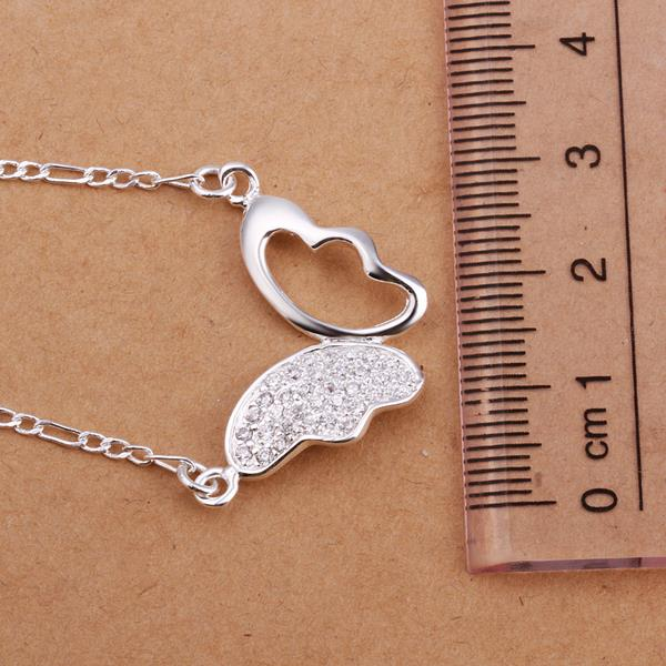Wholesale Romantic Silver Animal CZ Necklace TGSPN181 0