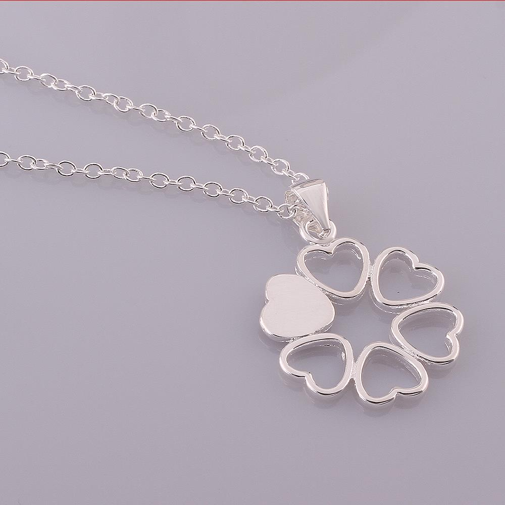 Wholesale Romantic Silver Ball CZ Necklace TGSPN041 0