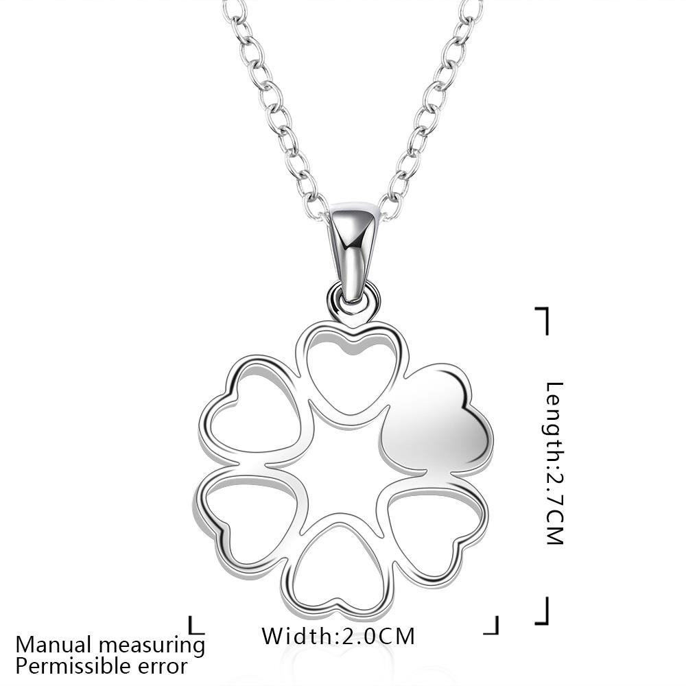Wholesale Romantic Silver Ball CZ Necklace TGSPN041 1