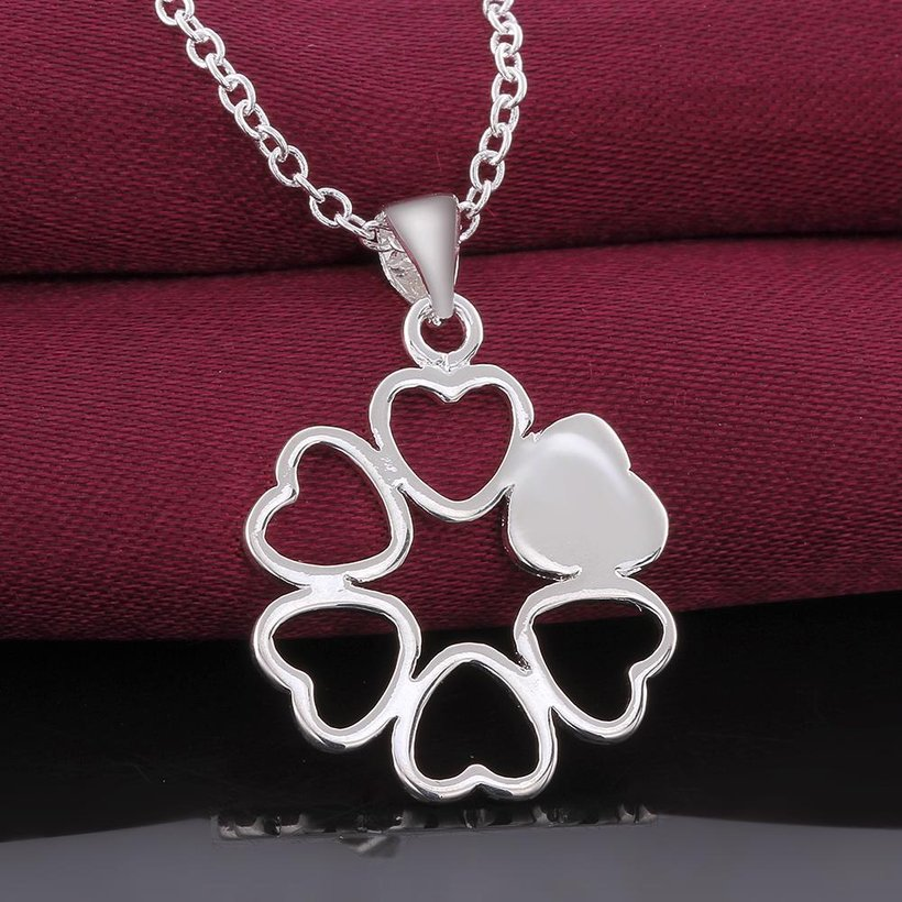 Wholesale Romantic Silver Ball CZ Necklace TGSPN041 2