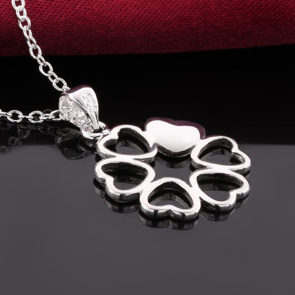 Wholesale Romantic Silver Ball CZ Necklace TGSPN041 3