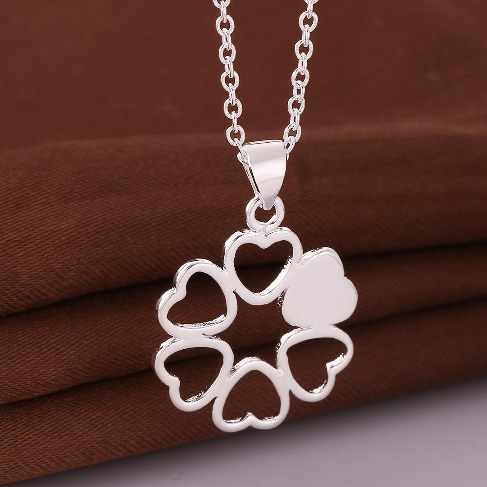 Wholesale Romantic Silver Ball CZ Necklace TGSPN041 4