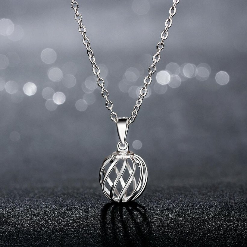 Wholesale Classic Silver Geometric Necklace TGSPN234 0