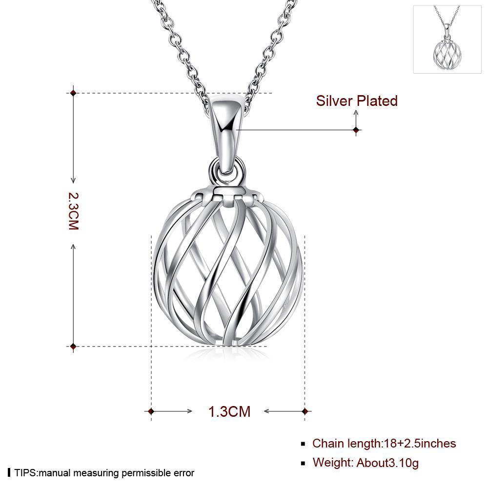Wholesale Classic Silver Geometric Necklace TGSPN234 2