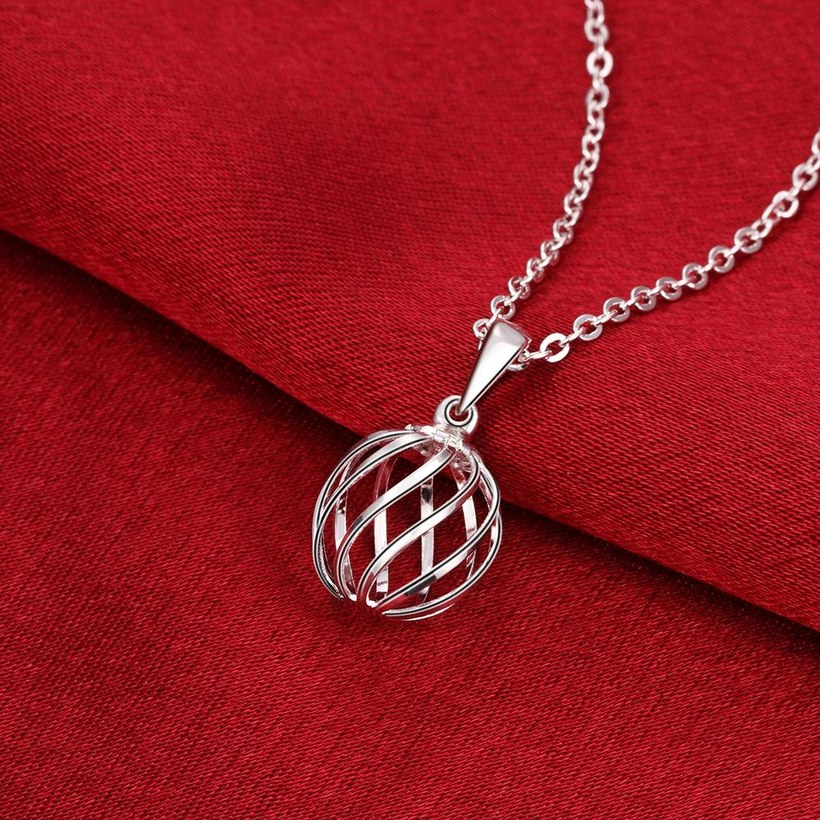 Wholesale Classic Silver Geometric Necklace TGSPN234 3