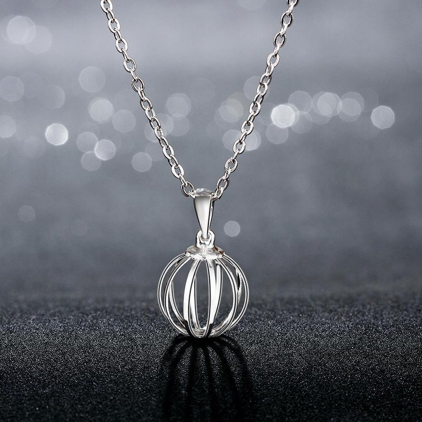 Wholesale Classic Silver Round Necklace TGSPN238 1