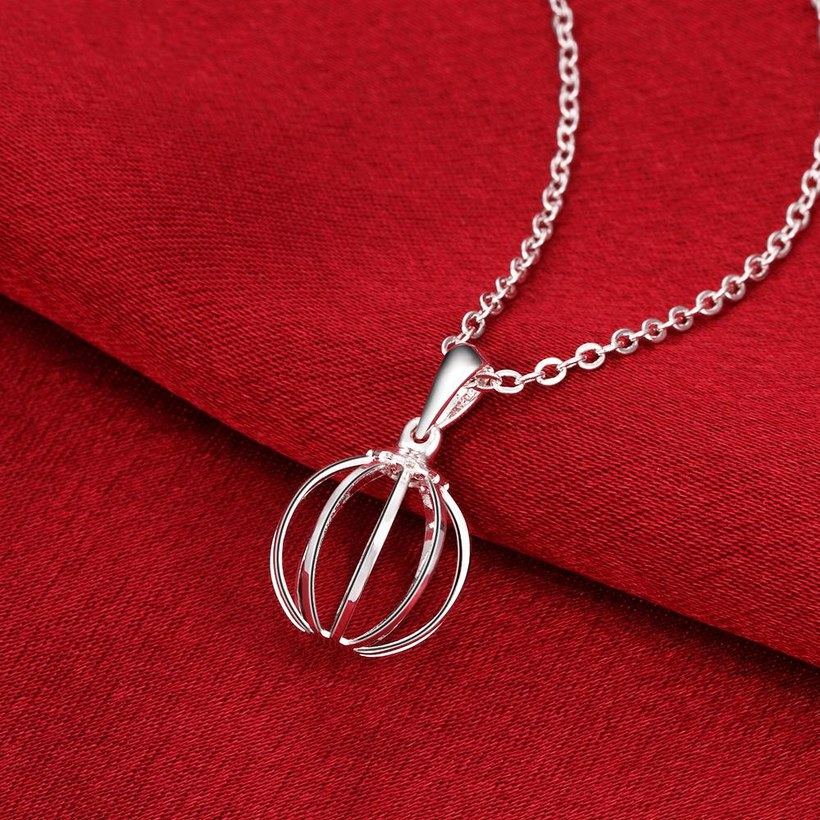Wholesale Classic Silver Round Necklace TGSPN238 2