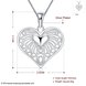 Wholesale Classic Silver Heart Necklace TGSPN244 0