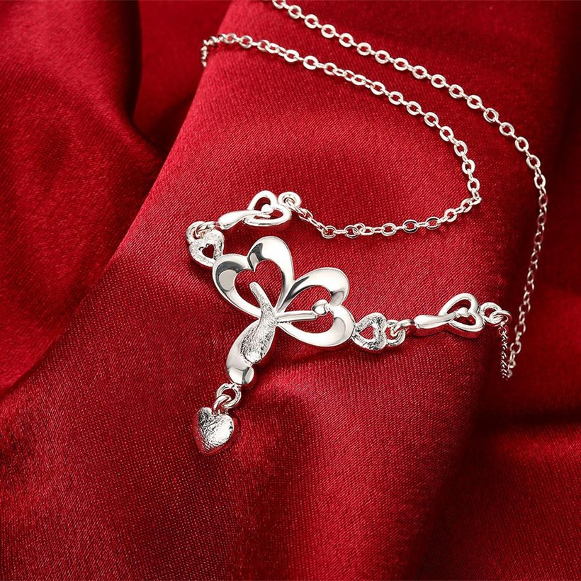 Wholesale Romantic Silver Heart Necklace TGSPN322 2