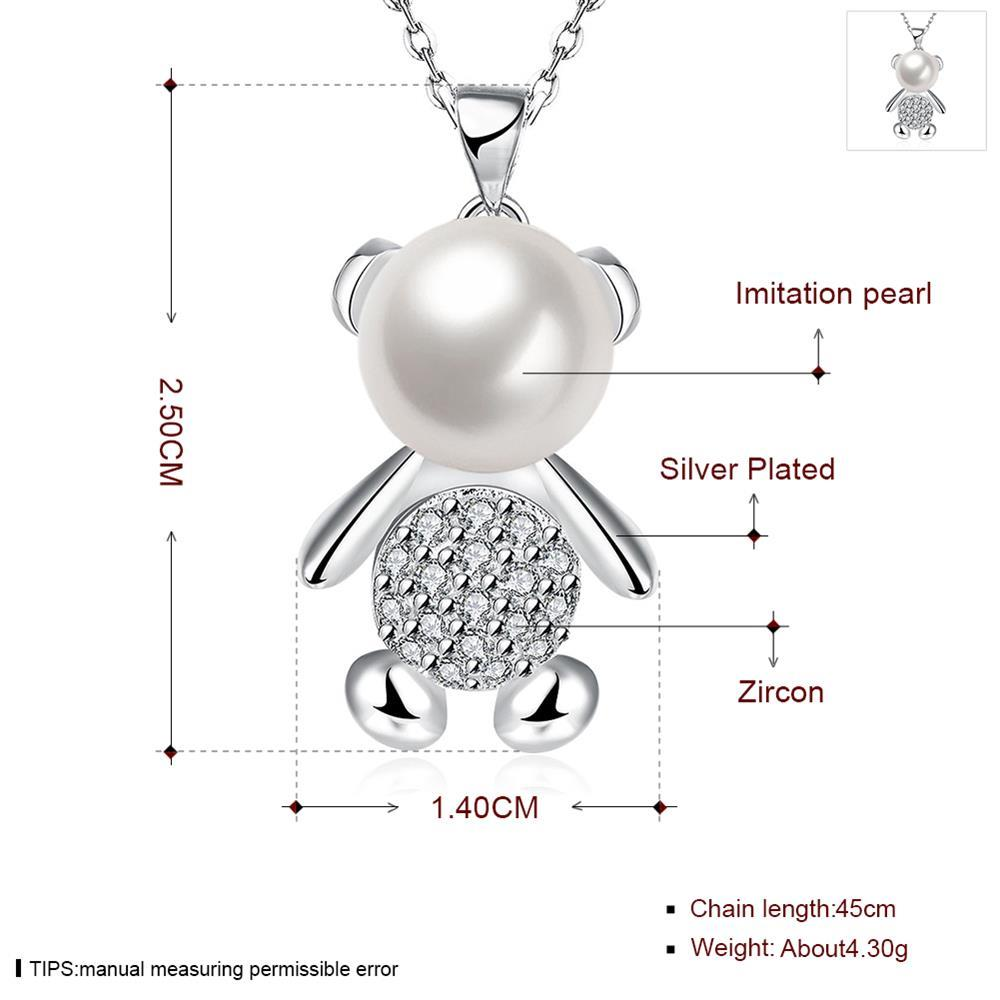 Wholesale Trendy Silver Animal CZ Necklace TGSPN332 0