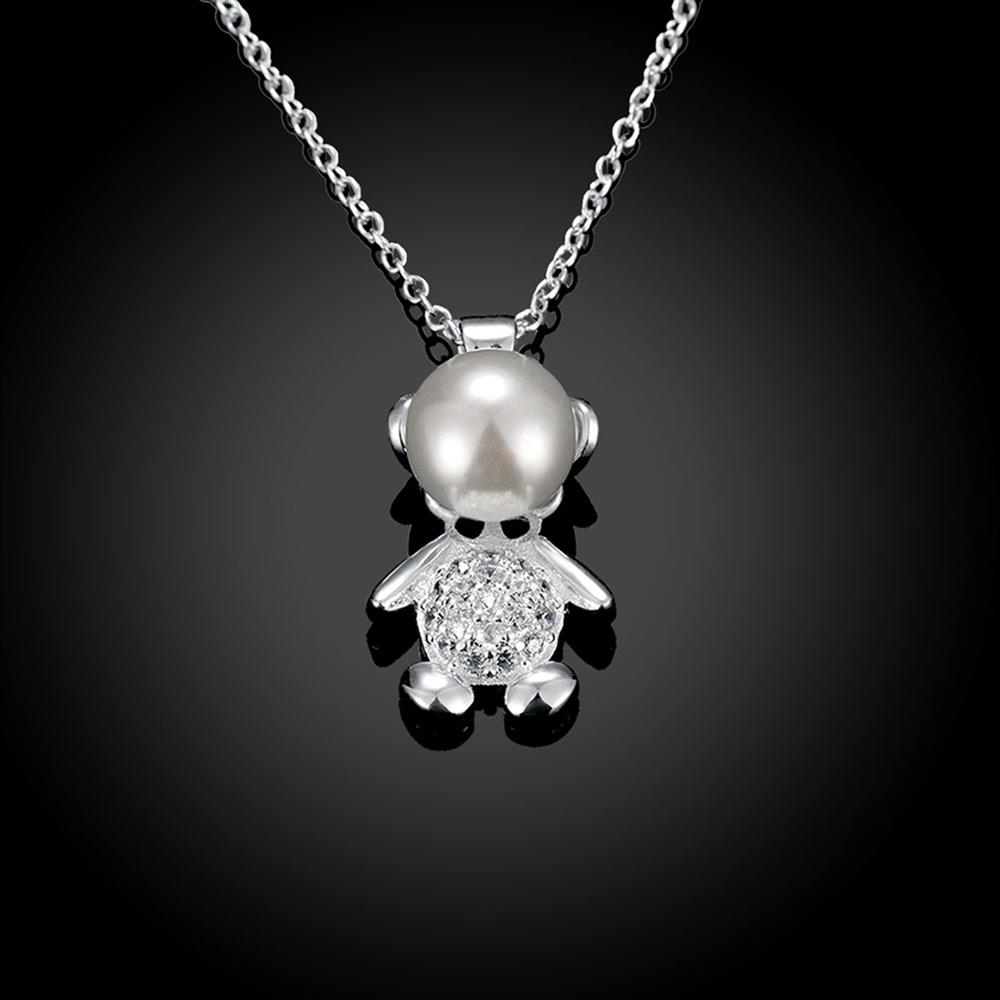 Wholesale Trendy Silver Animal CZ Necklace TGSPN332 1