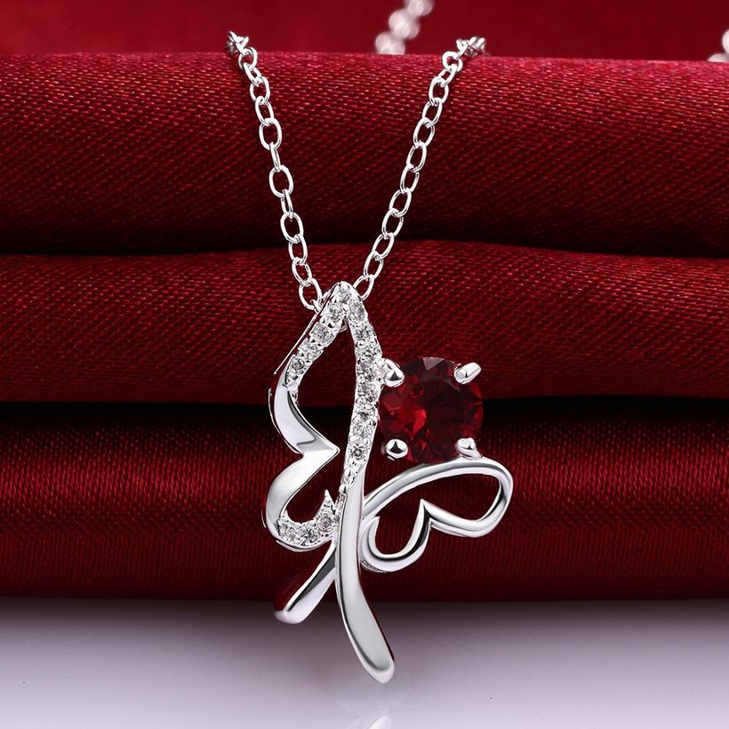 Wholesale Trendy Silver Insect Glass Necklace TGSPN612 1