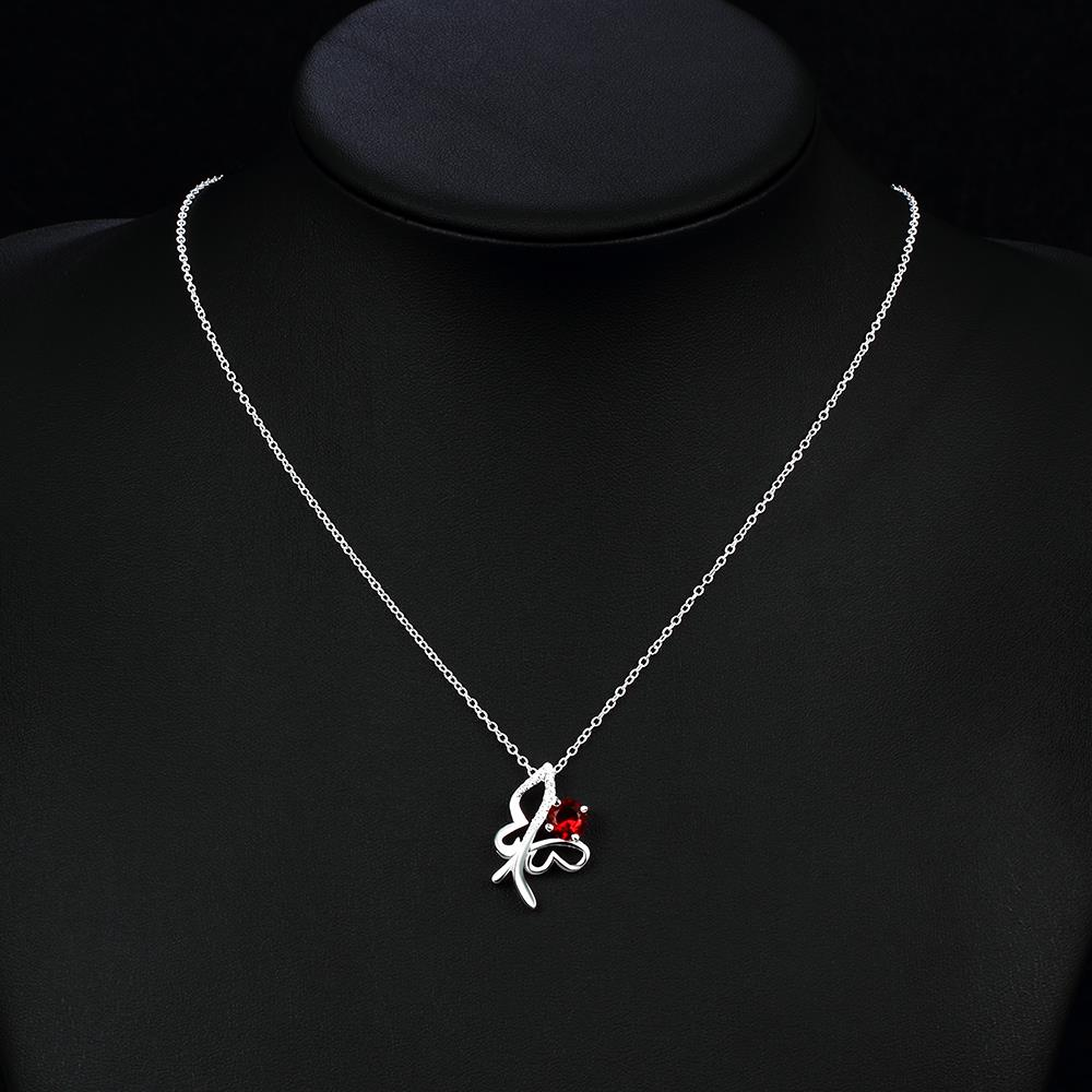 Wholesale Trendy Silver Insect Glass Necklace TGSPN612 2