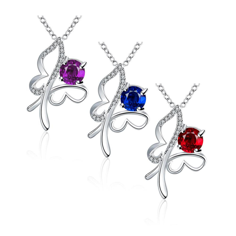Wholesale Trendy Silver Insect Glass Necklace TGSPN612 3
