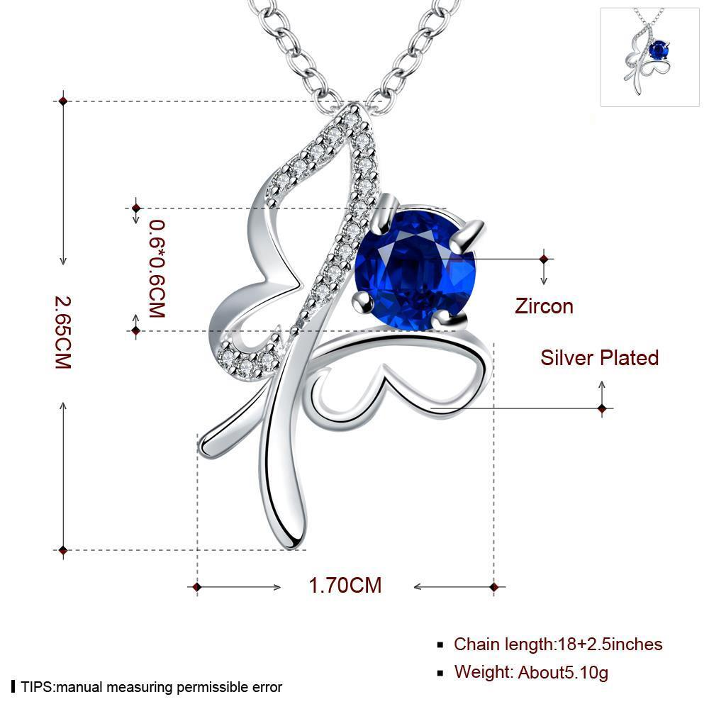 Wholesale Trendy Silver Insect Glass Necklace TGSPN612 4