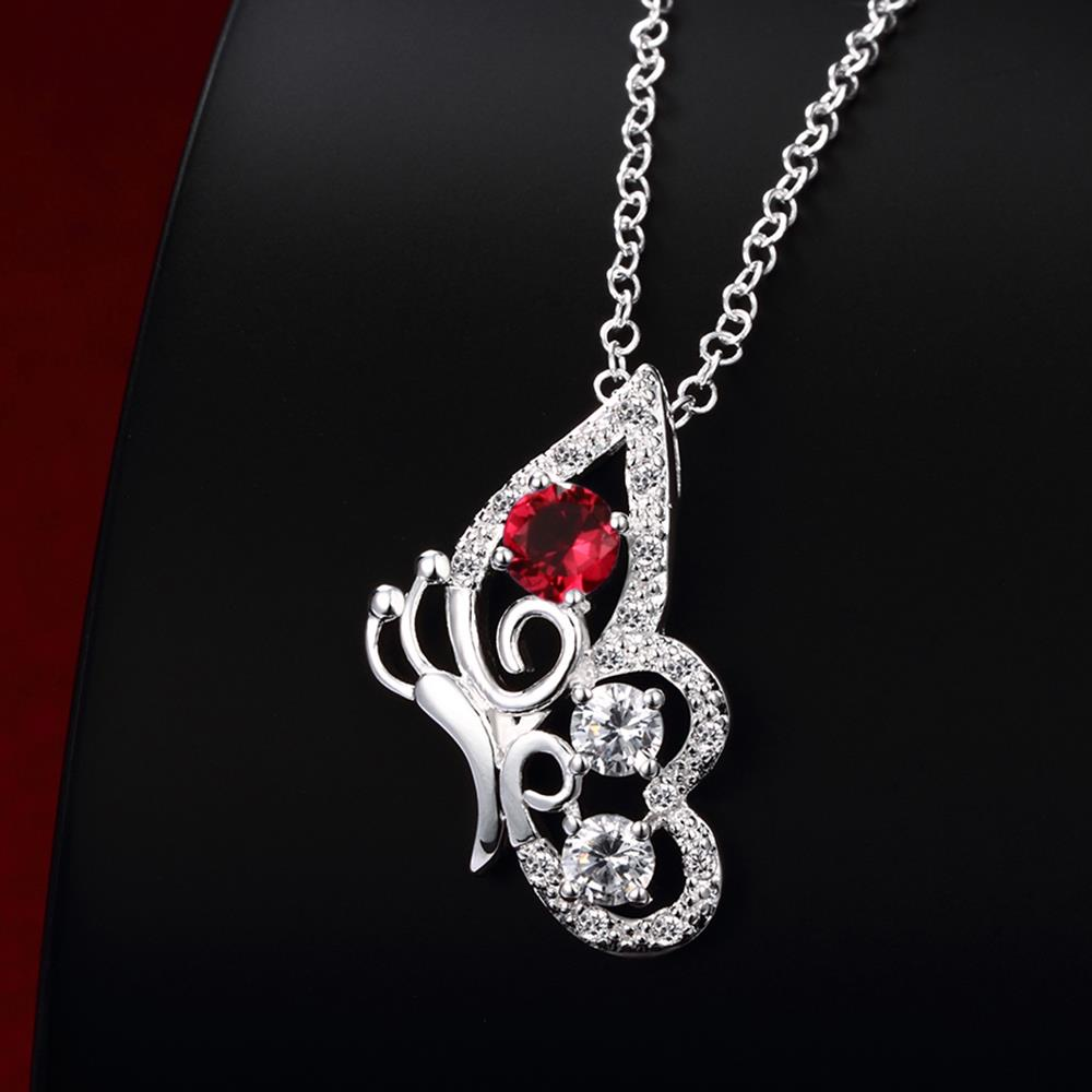 Wholesale Classic Silver Insect Glass Necklace TGSPN629 3