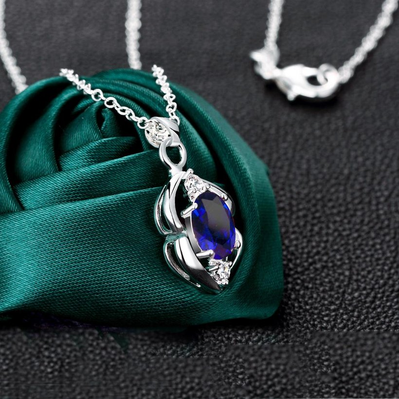 Wholesale Trendy Silver Plant Glass Necklace TGSPN032 1