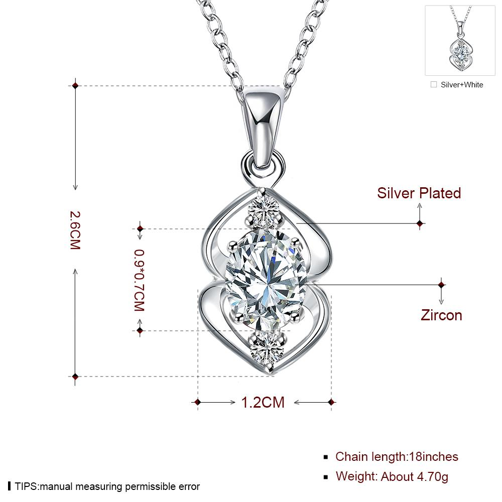 Wholesale Trendy Silver Plant Glass Necklace TGSPN032 6