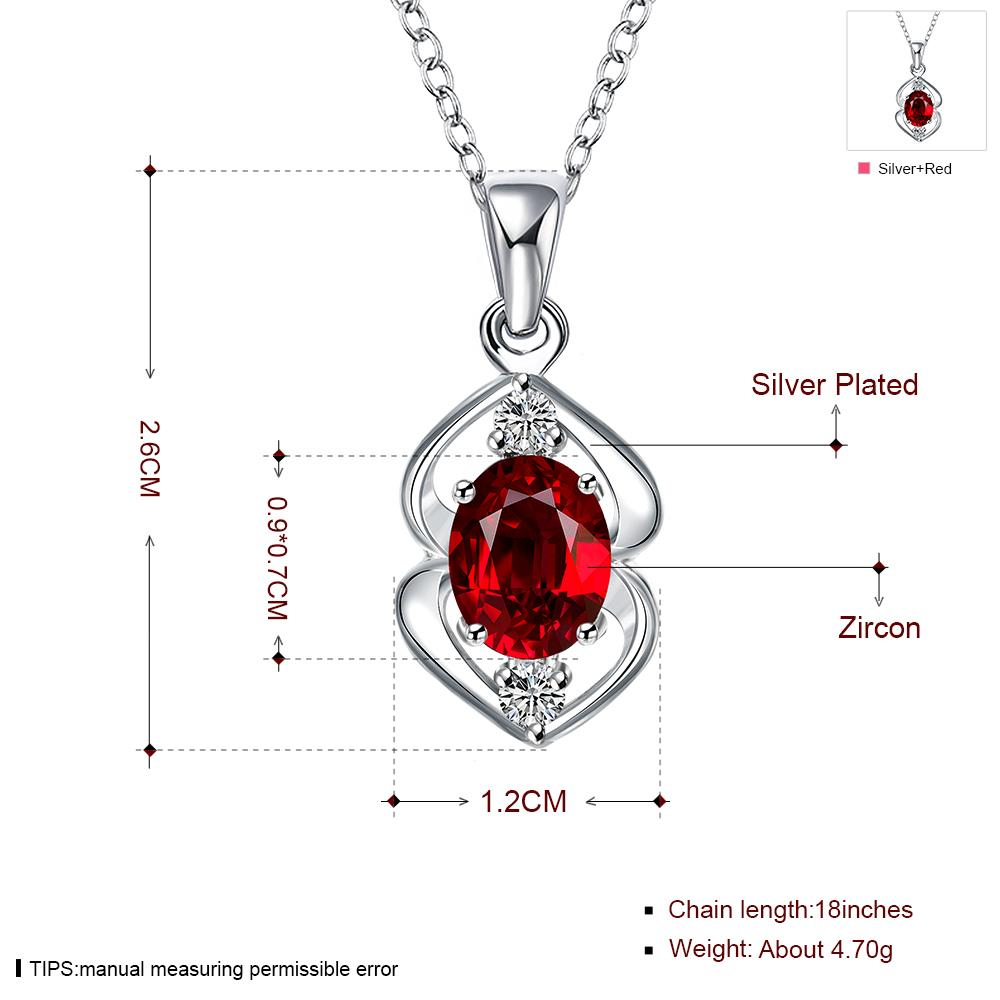 Wholesale Trendy Silver Plant Glass Necklace TGSPN032 7
