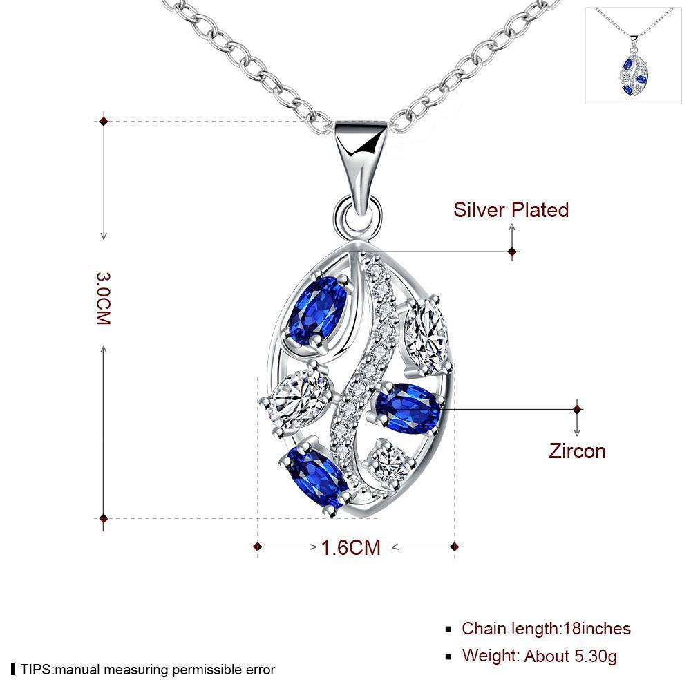 Wholesale Romantic Silver Plant Glass Necklace TGSPN698 0