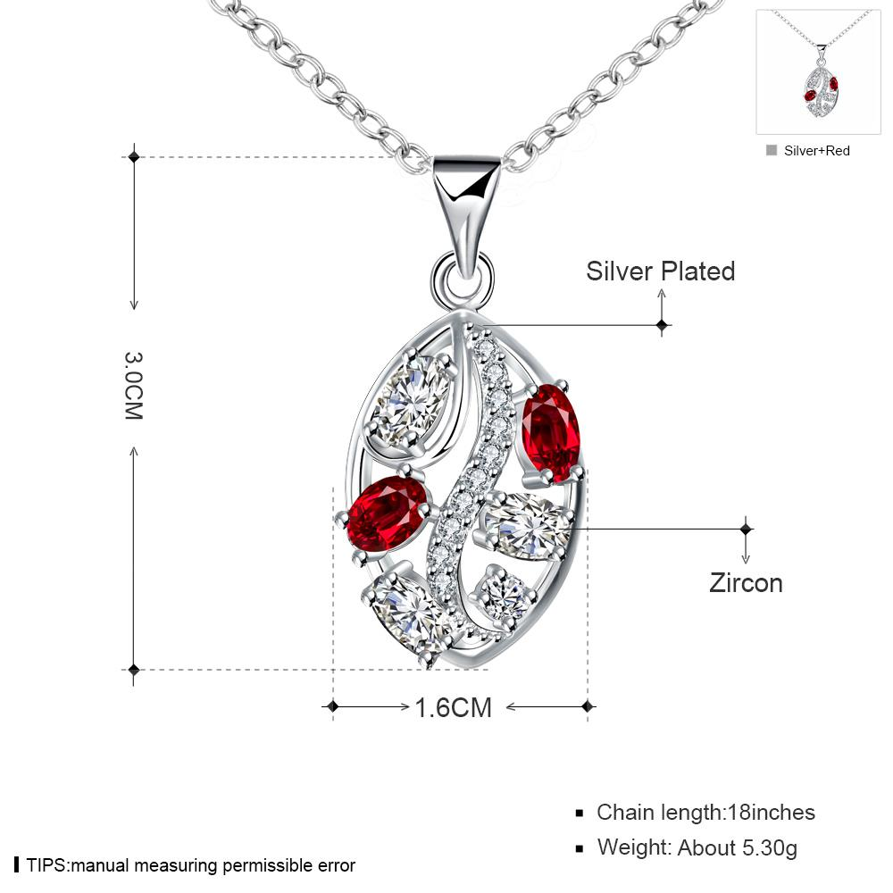 Wholesale Romantic Silver Plant Glass Necklace TGSPN698 6