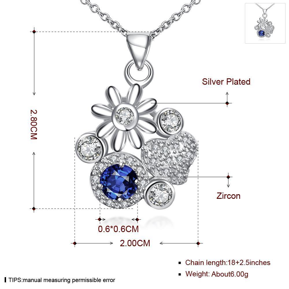 Wholesale Classic Silver Plant Glass Necklace TGSPN088 0