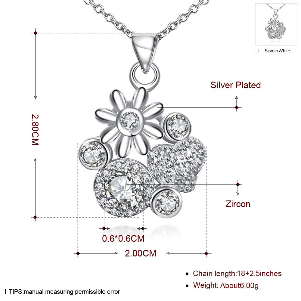 Wholesale Classic Silver Plant Glass Necklace TGSPN088 3