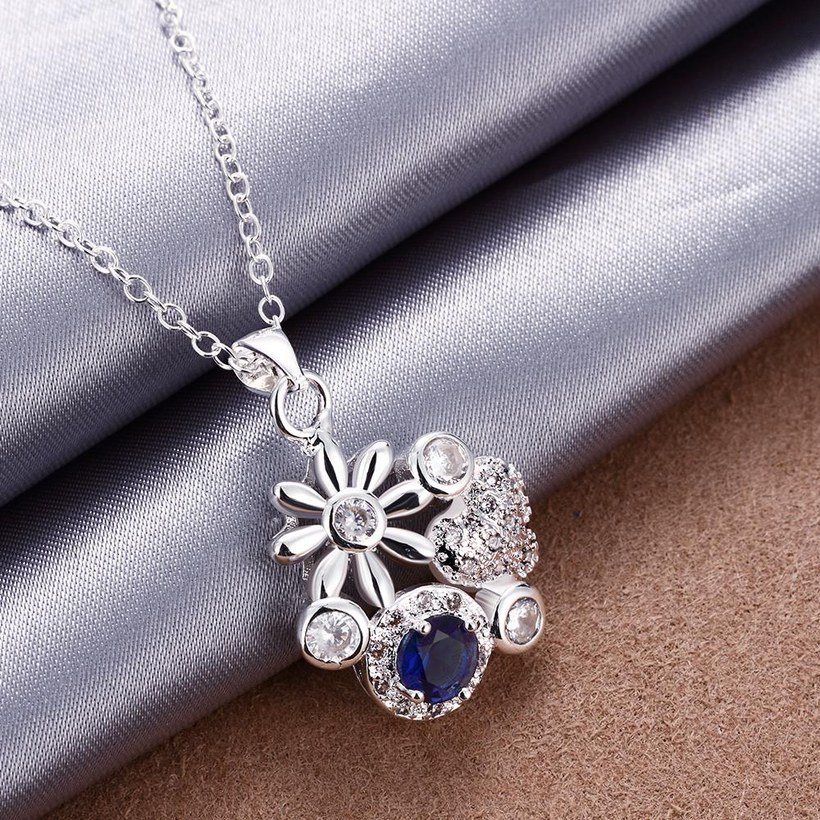 Wholesale Classic Silver Plant Glass Necklace TGSPN088 5