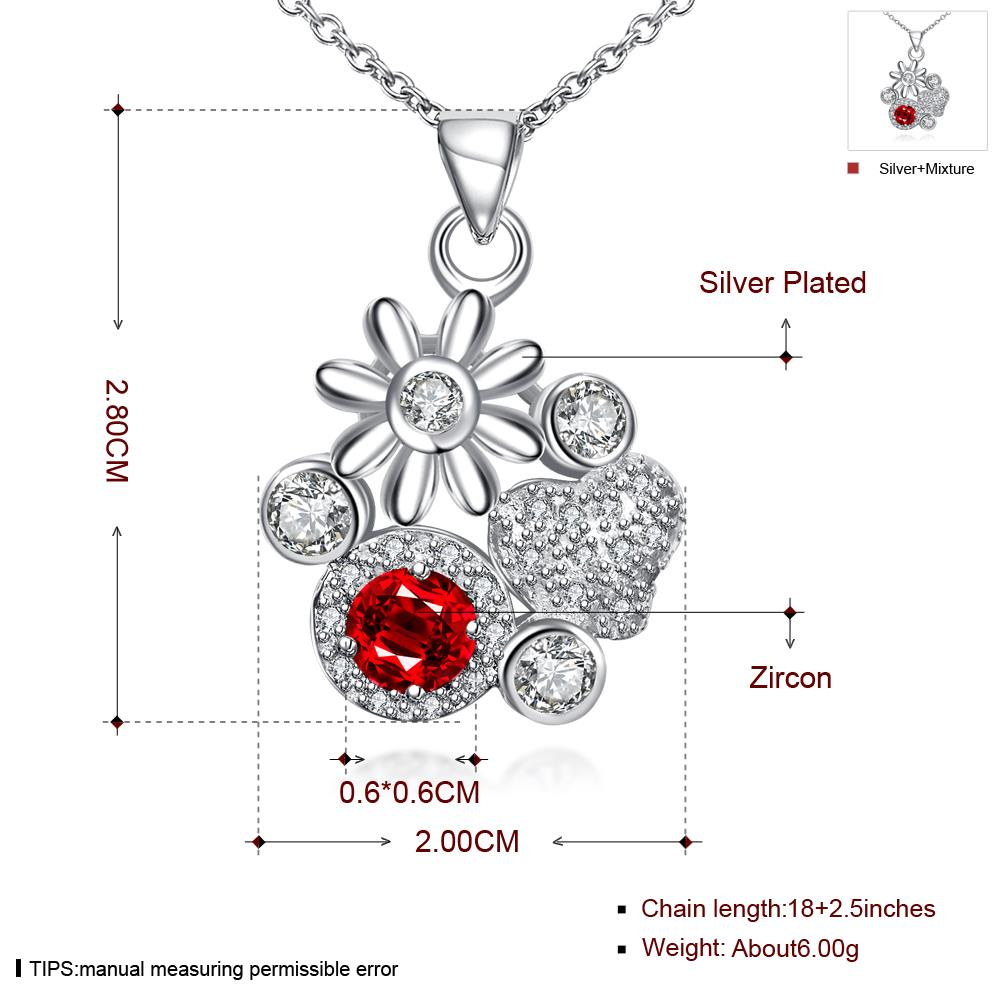 Wholesale Classic Silver Plant Glass Necklace TGSPN088 8