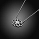 Wholesale Trendy Silver Geometric White CZ Necklace TGSPN188 1