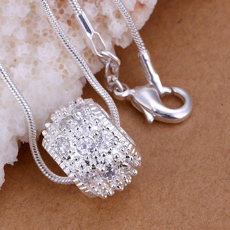 Wholesale Trendy Silver Round CZ Pendants TGSPP014 3