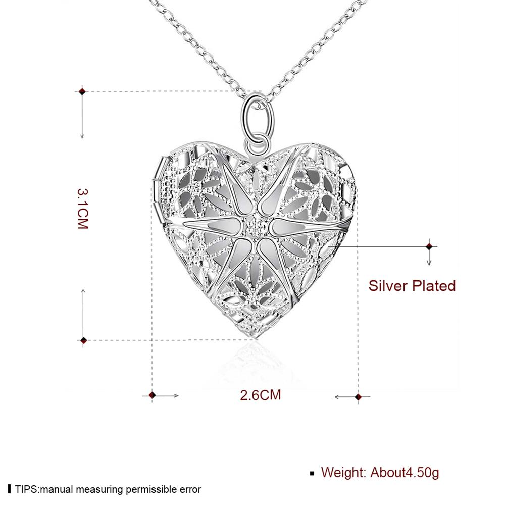 Wholesale Romantic Silver Heart Pendants TGSPP074 0