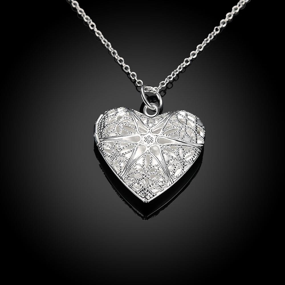 Wholesale Romantic Silver Heart Pendants TGSPP074 1