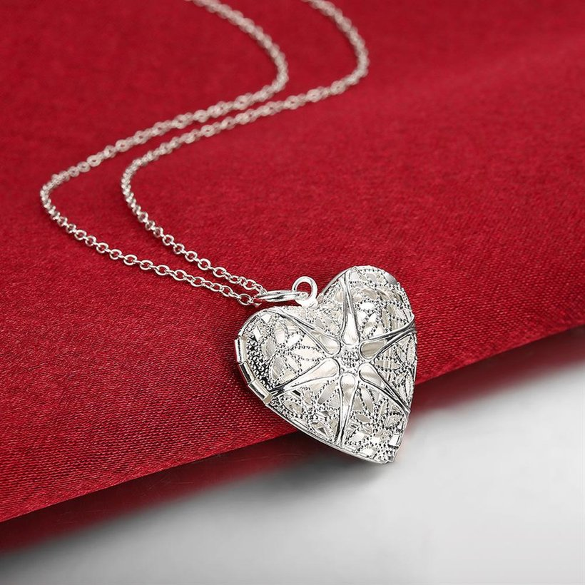 Wholesale Romantic Silver Heart Pendants TGSPP074 2