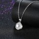 Wholesale Romantic 925 Sterling Silver Round White CZ Necklace TGSSN131 3