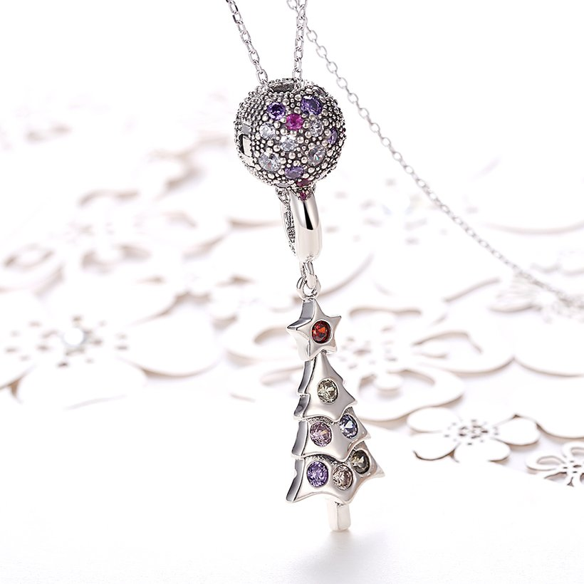 Wholesale 925 Silver Tree CZ Necklace TGSSN093 1