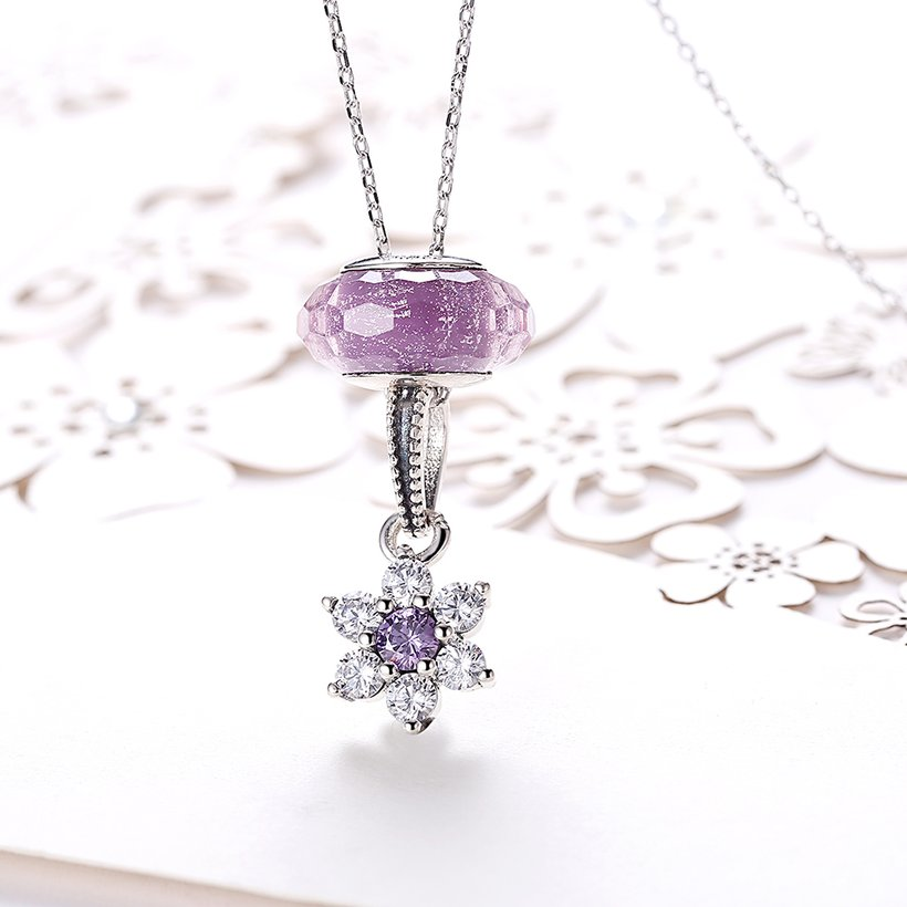 Wholesale 925 Silver Snow CZ Necklace TGSSN094 1