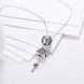 Wholesale Trendy 925 Sterling Silver Key CZ NecklaceLady TGSSN102 2