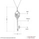 Wholesale Fashion 925 Sterling Silver Key CZ Necklace TGSSN138 0
