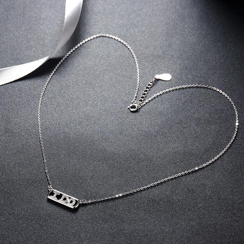 Wholesale 925 Silver I Do CZ Necklace TGSSN147 2