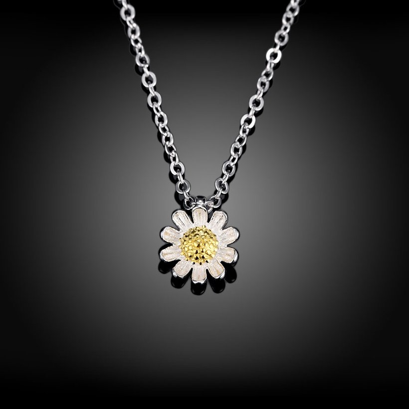 Wholesale 925 Silver Chrysanthemum Necklace TGSSN157 1