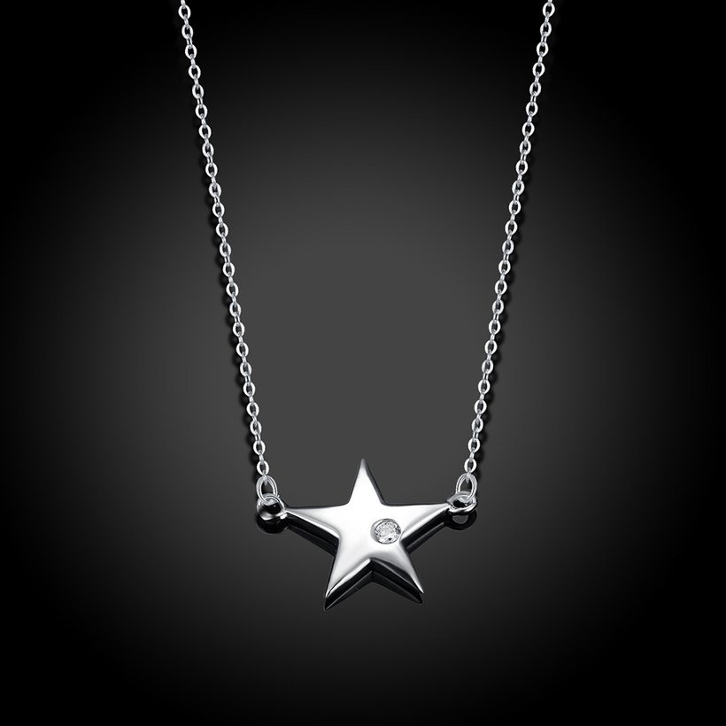 Wholesale 925 Silver Star CZ Necklace TGSSN004 1